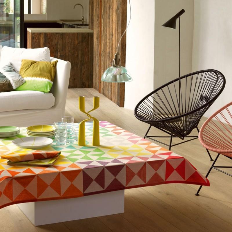nappe originale moderne fantaisie multicolore le jacquard francais. Black Bedroom Furniture Sets. Home Design Ideas
