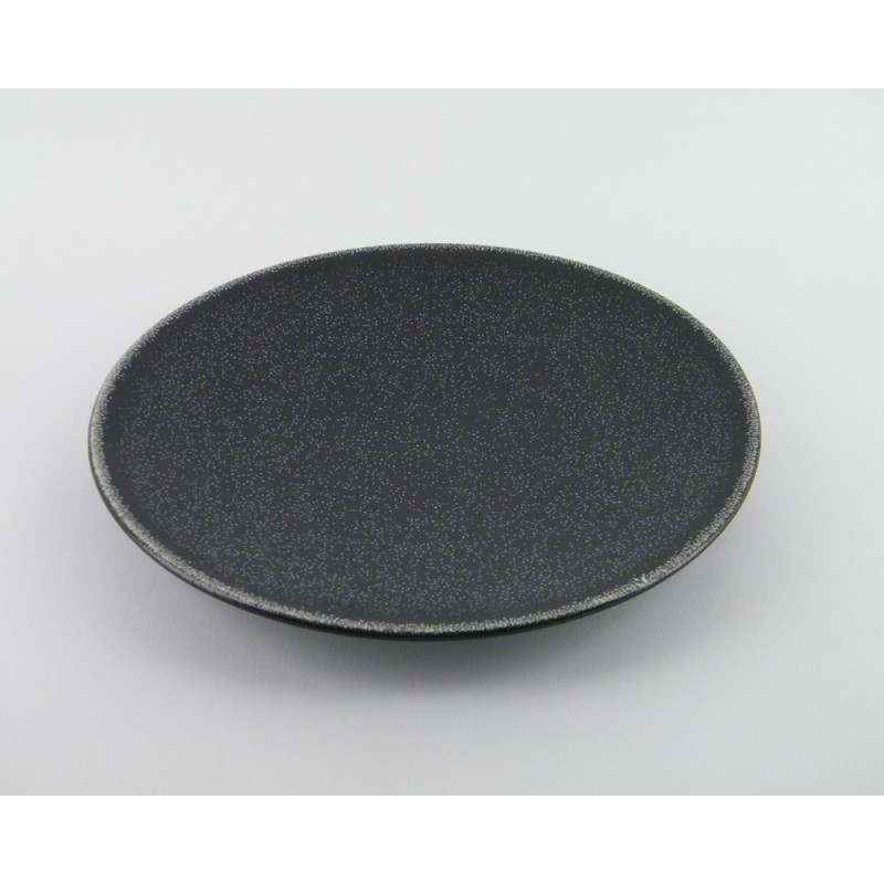 assiettes plates noires gr s maill originale jars. Black Bedroom Furniture Sets. Home Design Ideas