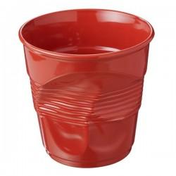 Pot à ustensiles froissé rouge piment, Revol
