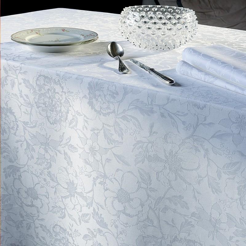 Nappe de table r ception classique blanc - Nappe garnier thiebaut ...