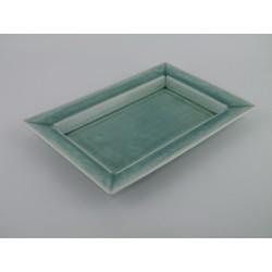 Plat rectangulaire Tourron jade, Jars