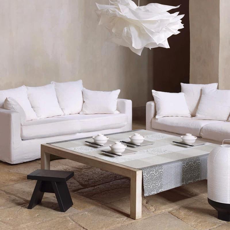 tissu enduit nappe haute qualit gris tissu enduit. Black Bedroom Furniture Sets. Home Design Ideas