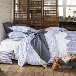 Parure de lit percale de coton Dédale, Alexandre Turpault