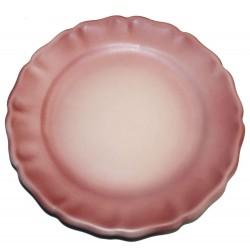 Assiette plate Les Colors Rose, Louis Sicard