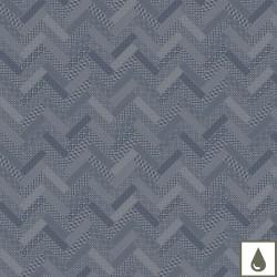 Tissu enduit Mille Mosaic Denim laize 180cm, Garnier-Thiébaut