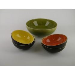 Service à dessert Tourron tilleul/citron/orange, Jars