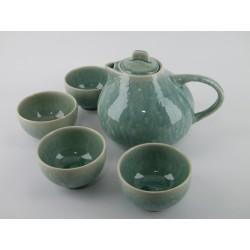 Ensemble Théière 1.4 L Tourron + 4 bols à thé