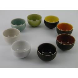 Service à thé multicolore Tourron, Jars