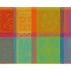 Sets de table coton enduit GARNIER-THIEBAUT Mille Wax Créole (X 4)
