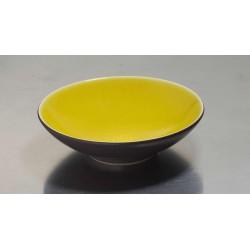 Assiette creuse Tourron citron