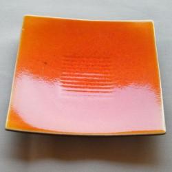 Assiettes dessert carrées Toba tilleul Jars Céramistes (X 4)