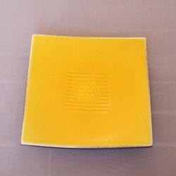 Assiettes carrées dessert Toba citron, Jars (par 4