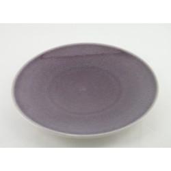 Assiettes plates Poème pourpre uni, Jars (par 4)