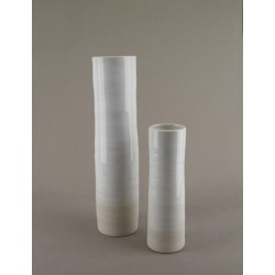 Vase céramique Ma-To blanc stuc, Jars