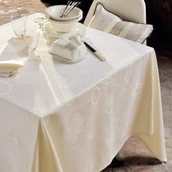 Nappe enduite sur mesure Mille Eclats Chocolat Blanc