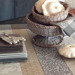 Nappe coton enduit Provence Calisson