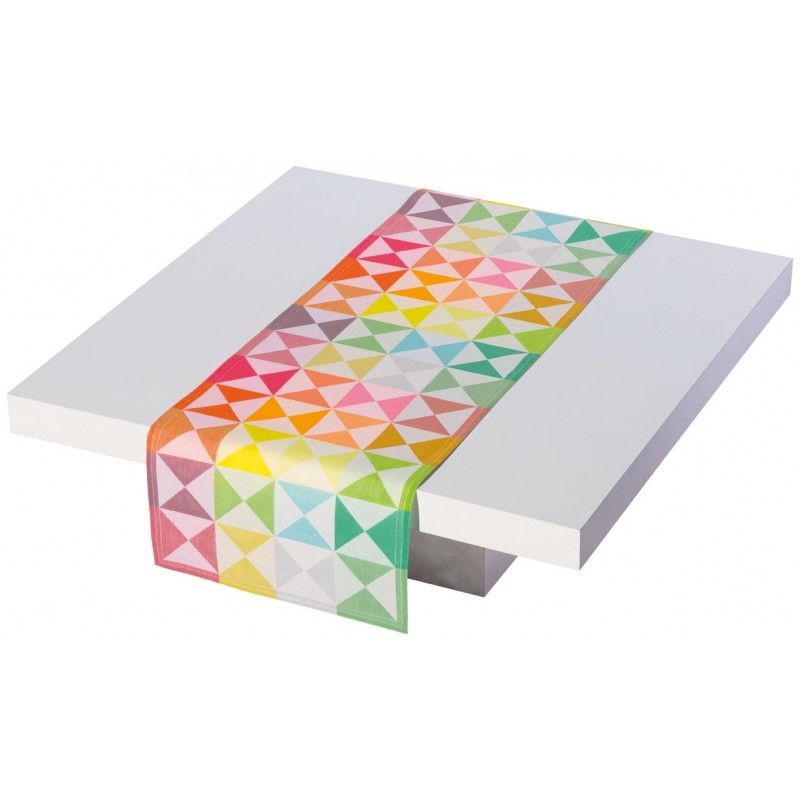 Chemin de table original multicolore le jacquard fran ais - Chemin de table lumineux ...