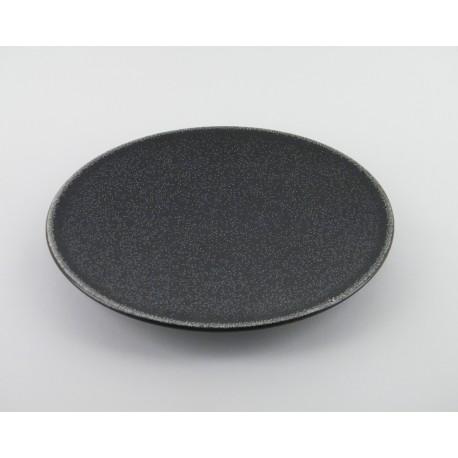 assiette design gr s maill originale noir jars. Black Bedroom Furniture Sets. Home Design Ideas