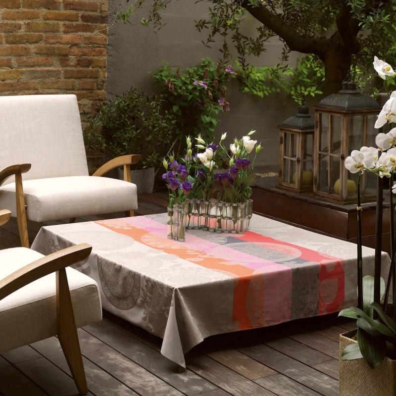 tissu enduit nappe. Black Bedroom Furniture Sets. Home Design Ideas