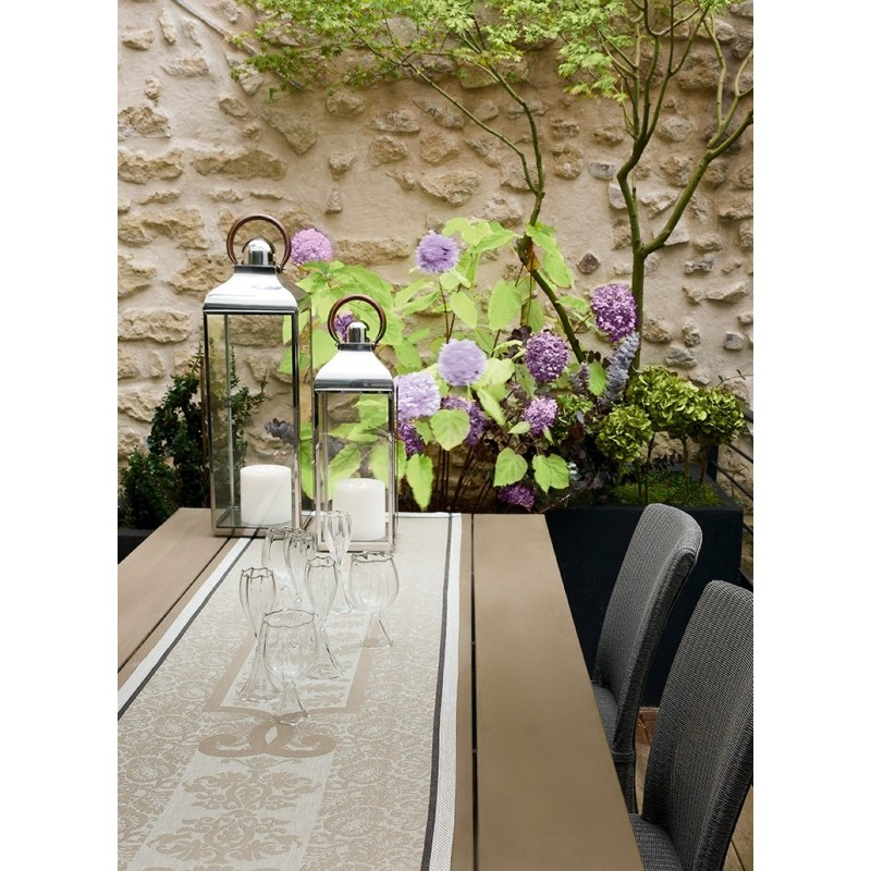 Chemin de table vis a vis renaissance lin - Chemin de table taupe ...