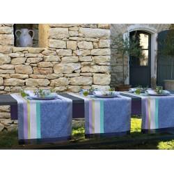 Chemin de table Provence Bleu lavande, Le Jacquard Français