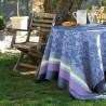 Nappe coton enduit Provence Bleu lavande Le Jacquard Français