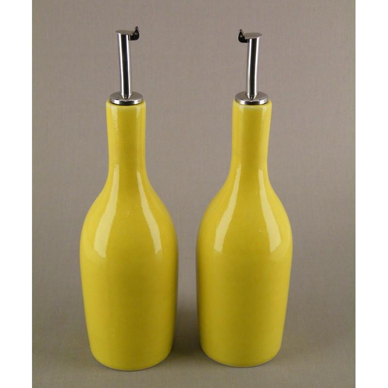 huilier vinaigrier ceramique design jaune citron jars c ramistes acheter huilier provence. Black Bedroom Furniture Sets. Home Design Ideas