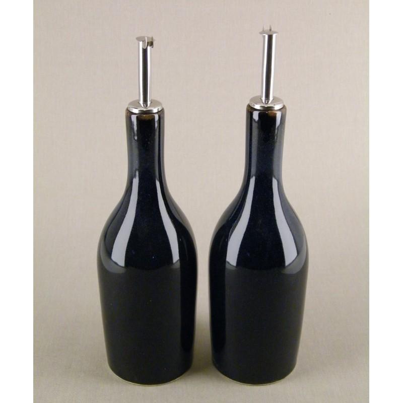 huilier vinaigrier design bleu indigo acheter vinaigrier ceramique tourron jars c ramistes. Black Bedroom Furniture Sets. Home Design Ideas