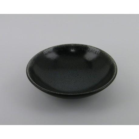 assiette design ceramique moderne noir jars c ramistes. Black Bedroom Furniture Sets. Home Design Ideas