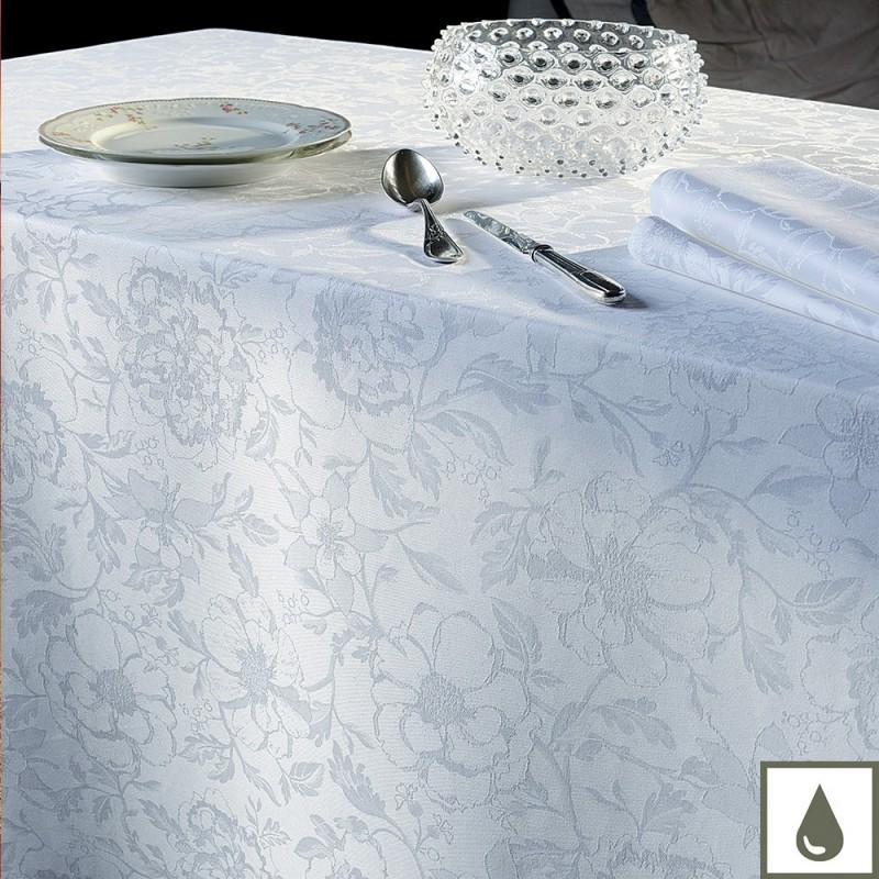 nappe enduite sur mesure blanc. Black Bedroom Furniture Sets. Home Design Ideas