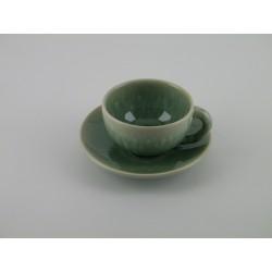 Tasses à thé Tourron jade, Jars (par 2)
