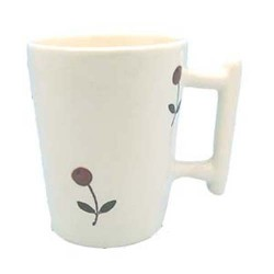 Tasse à café Semis Blanc, Faïences provençales (par 6)