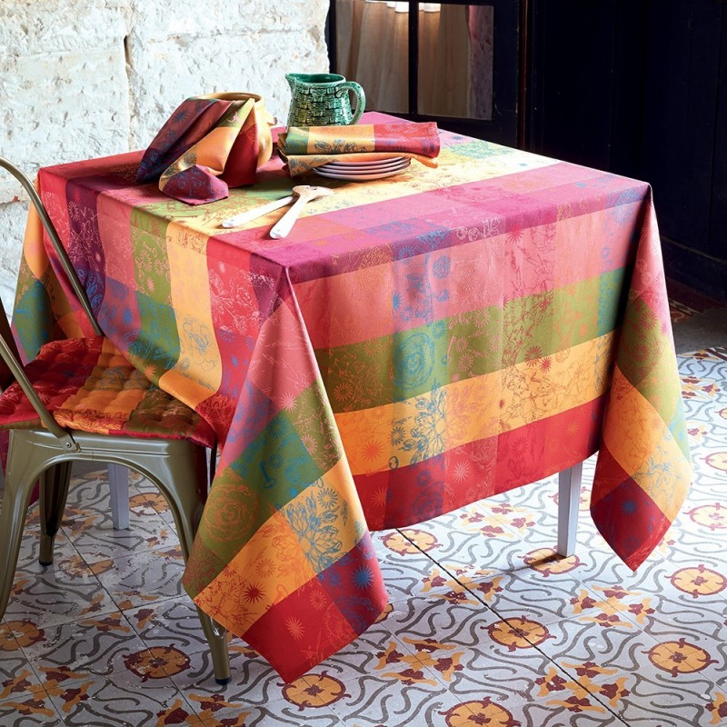 Nappes sur mesure damass carreaux - Nappe de table rectangulaire sur mesure ...