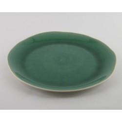 Assiette plate Maguelone Emeraude, Jars Céramistes