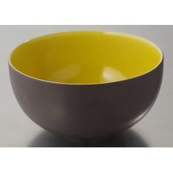 Saladier 23 cm Tourron citron, Jars Céramistes