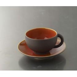 Tasse à thé Tourron orange