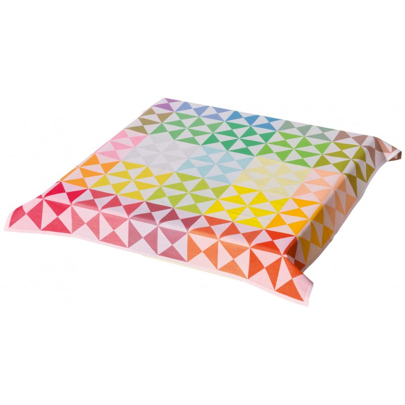 coton enduit nappe multicolore. Black Bedroom Furniture Sets. Home Design Ideas