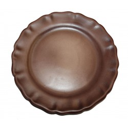 Assiette plate Les Colors Chocolat, Louis Sicard