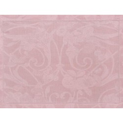 Set de table design pur lin Tivoli Rose poudre