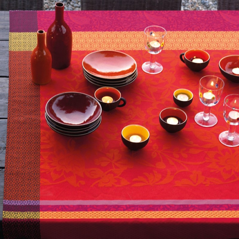 nappe enduite provence rouge nappe enduite sur mesure qualit. Black Bedroom Furniture Sets. Home Design Ideas