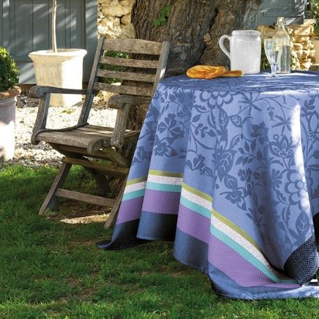 nappe enduite sur mesure provencal bleu lavande. Black Bedroom Furniture Sets. Home Design Ideas
