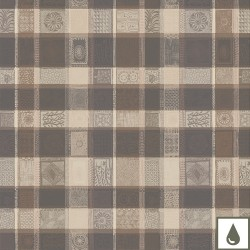 Tissu enduit Mille Wax Argile laize 180cm, Garnier-Thiébaut