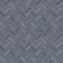 Tissu nappe au metre Mille Mosaic Denim en 185cm, City Garnier-Thiébaut