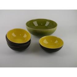 Service à dessert Tourron tilleul/citron, Jars