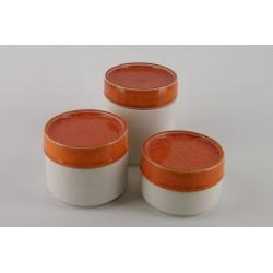 Boîte céramique orange, Jars