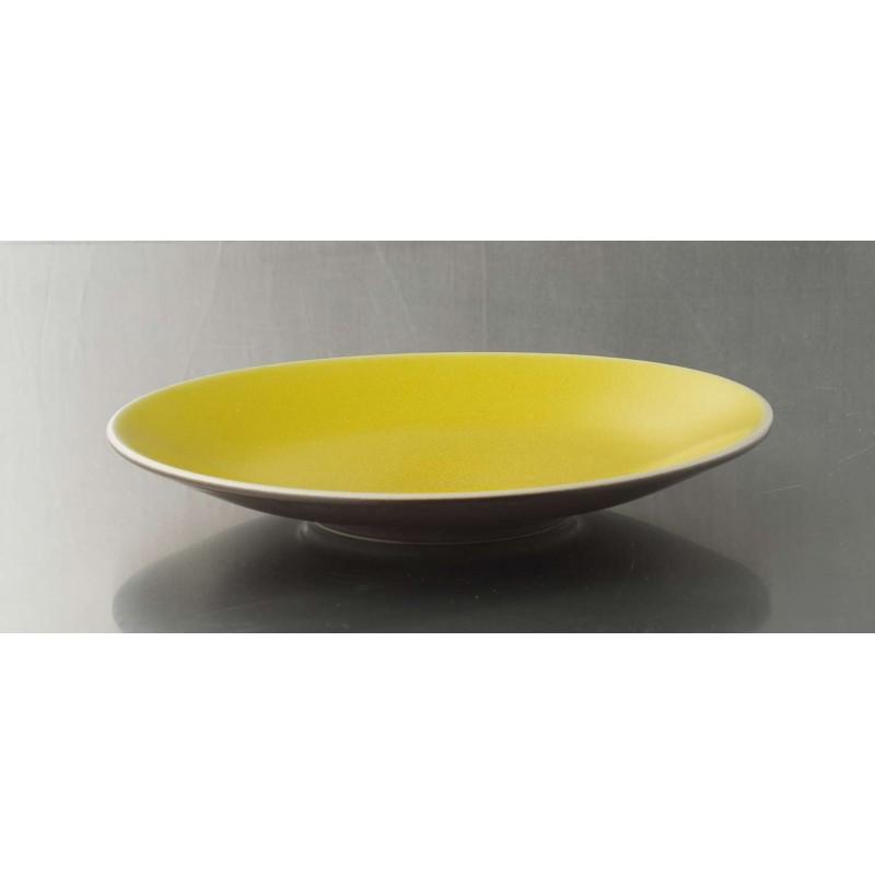 assiette design gres jaune jars c ramistes. Black Bedroom Furniture Sets. Home Design Ideas