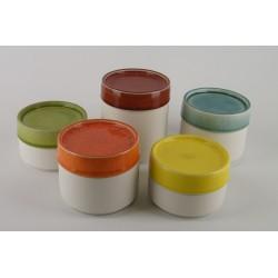 Boîte céramique bicolore, Jars