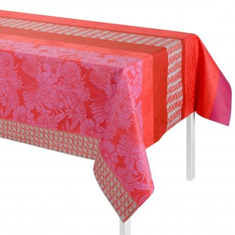 Tissu enduit Brooklyn Pink laize 145cm, LJF by Le Jacquard Français
