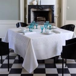 Nappe de table Azulejos Blanc Le Jacquard Français