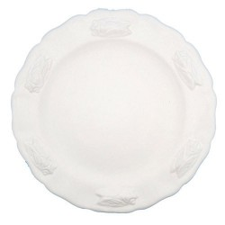 Assiette faience plate blanc Les Cigales, Faïences Louis Sicard